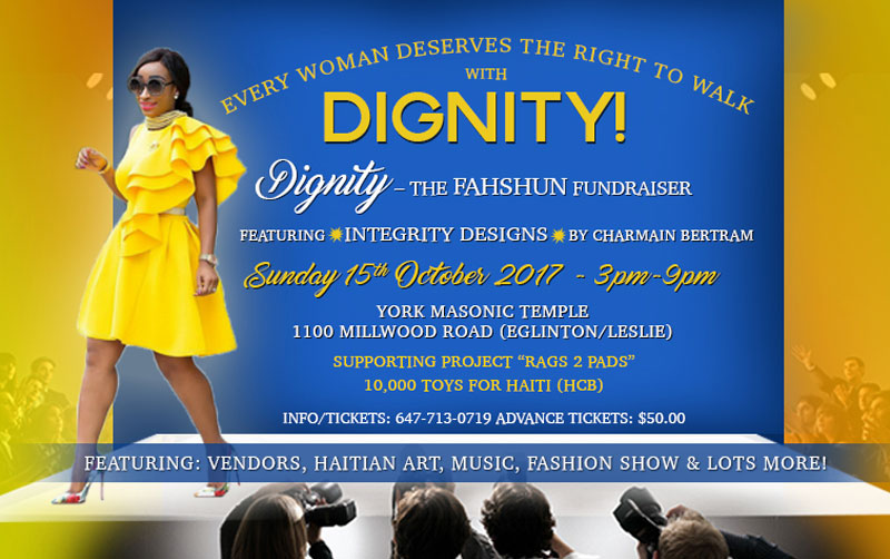 Sunday Oct. 15th: Every Woman Deserves To Walk With Dignity!